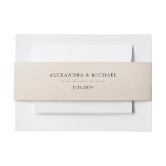 Neutral Watercolor | Wedding Invitation Belly Band