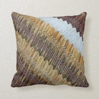 Neutral Weave Design Pillow