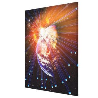 Neutrinos 2 stretched canvas prints