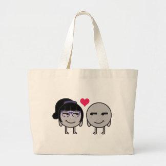 Neutron and Neutrona love Large Tote Bag