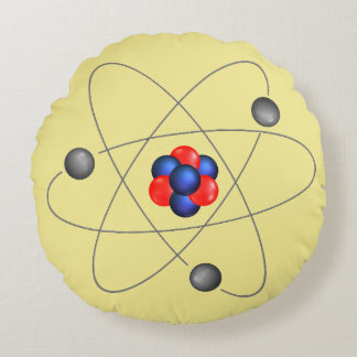 Neutron Proton Atomic Round Pillow