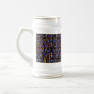 Neutron Rods Abstract art by Valxart.com 18 Oz Beer Stein