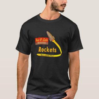 Nev-R-Late Neutrino Rockets - retro shirt