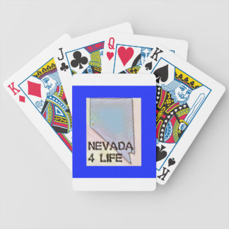 """""""Nevada 4 Life"""" State Map Pride Design Bicycle Playing Cards"""