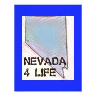 """Nevada 4 Life"" State Map Pride Design Letterhead Template"