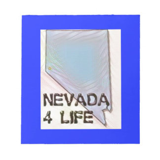 """""""Nevada 4 Life"""" State Map Pride Design Notepad"""