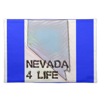 """Nevada 4 Life"" State Map Pride Design Placemat"