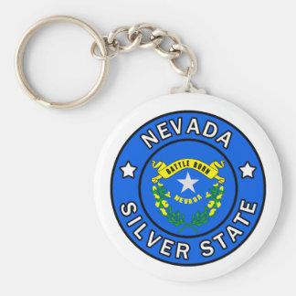 Nevada Basic Round Button Keychain