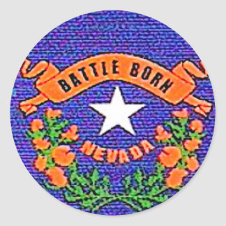 Nevada Battle Born Classic Round Sticker
