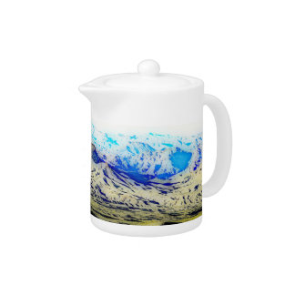 Nevada - California State Line Tea Pot