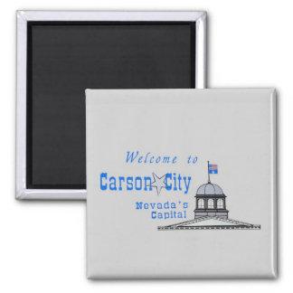 NEVADA Carson City Square Magnet