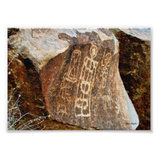 Nevada Christmas Tree Pass Petroglyph Photograph