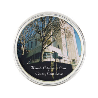 Nevada City Tours California Old County Courthouse Lapel Pin