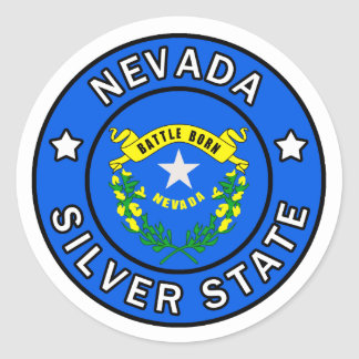 Nevada Classic Round Sticker