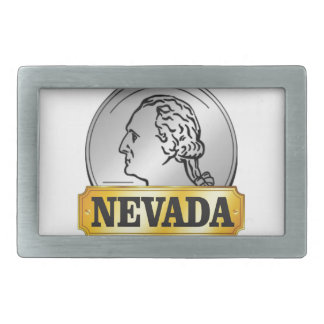 nevada coin belt buckle