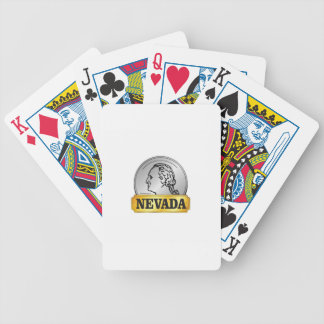 nevada coin bicycle playing cards