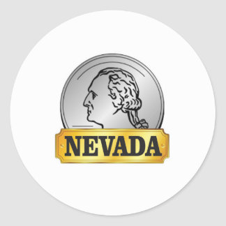 nevada coin classic round sticker