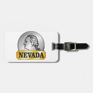 nevada coin luggage tag
