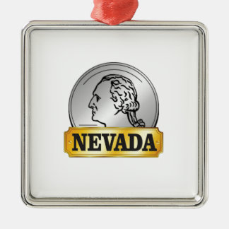 nevada coin metal ornament