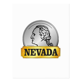 nevada coin postcard