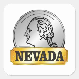 nevada coin square sticker