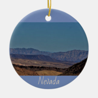 Nevada Desert Mountains Ceramic Ornament