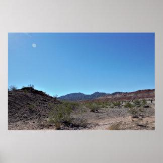 Nevada Desert Mountains Poster