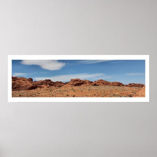 Nevada Desert Skyline Panoramic Poster
