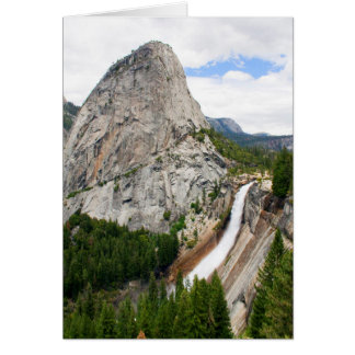 Nevada Falls and Liberty Cap (Custom Message) Card