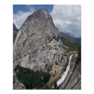 Nevada Falls and Liberty Cap Poster