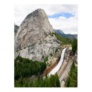 Nevada Falls and Liberty Cap with Thunderclouds Postcard