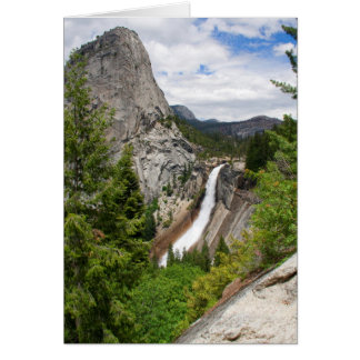 Nevada Falls from John Muir Trail (Blank Inside) Card