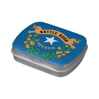 NEVADA FLAG JELLY BELLY CANDY TINS