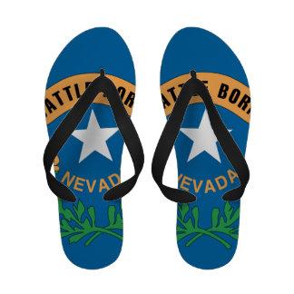 NEVADA FLAG FLIP FLOPS