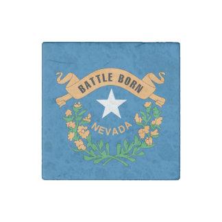 NEVADA FLAG STONE MAGNET