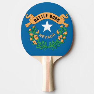 NEVADA FLAG Ping-Pong PADDLE