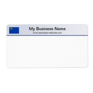 Nevada Flag Header Shipping Label