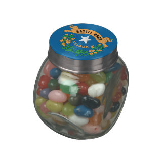 NEVADA FLAG JELLY BELLY CANDY JAR