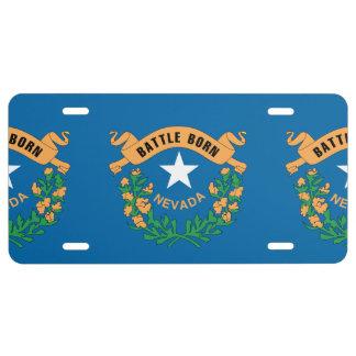 NEVADA FLAG LICENSE PLATE