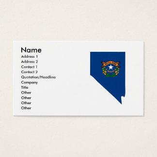 Nevada Flag Map Business Card
