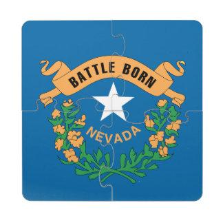 NEVADA FLAG PUZZLE COASTER