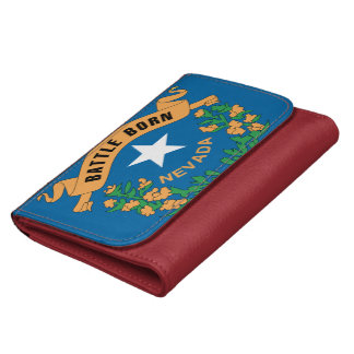 NEVADA FLAG LEATHER WALLET FOR WOMEN