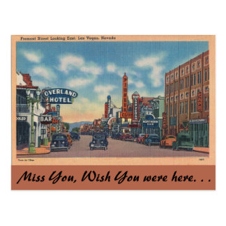 Nevada, Fremont Street, Las Vegas Postcard
