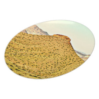 Nevada Golden Mountain Melamine Plate