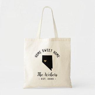Nevada Home Sweet Home Family Monogram Tote Bag