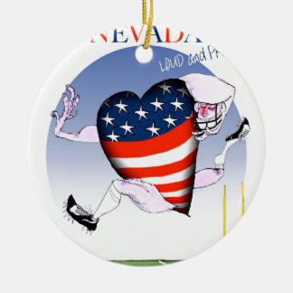 nevada loud and proud, tony fernandes round ceramic ornament