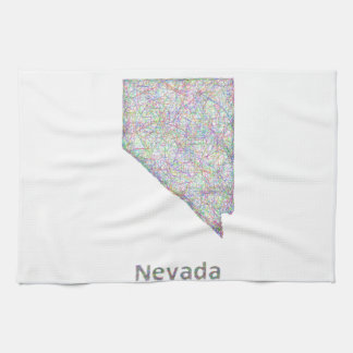 Nevada map kitchen towel