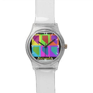 Nevada Map Wrist Watches