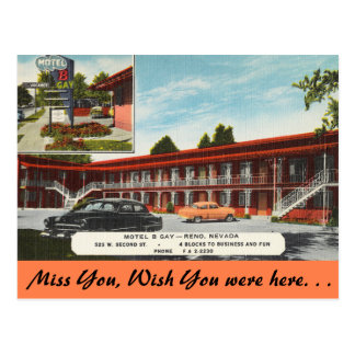 Nevada, Motel B Gay, Reno Postcard
