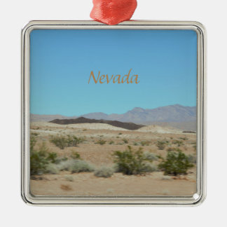 Nevada Mountains Metal Ornament